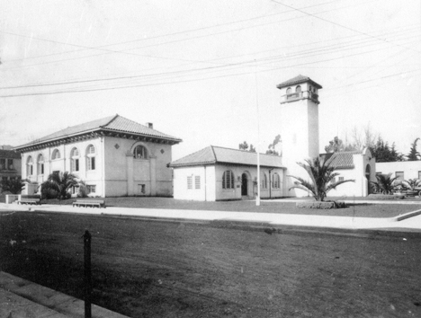 Town Hall & Library, c. 1920