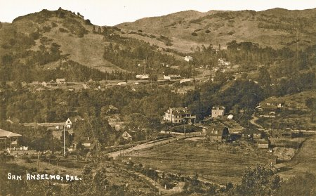 View of San Anselmo from Crescent Road