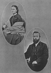 Marian Thayer & Edwin Wood shortly before their marriage in 1867.