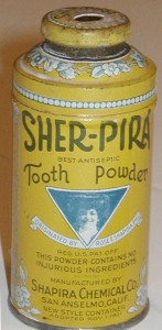 Shapira Tooth Powder Can