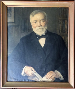 Andrew Carnegie portrait received in 1935 in commemoration of the 100th anniversary of his bith