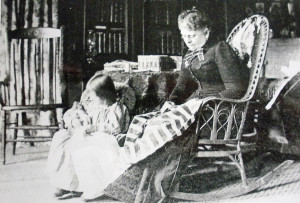 Sarah Taylor with her granddaughter Ramona Danner, 1894. Courtesy Marin History Museum
