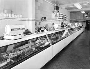 Home Market Meat Counter, ca. 1940